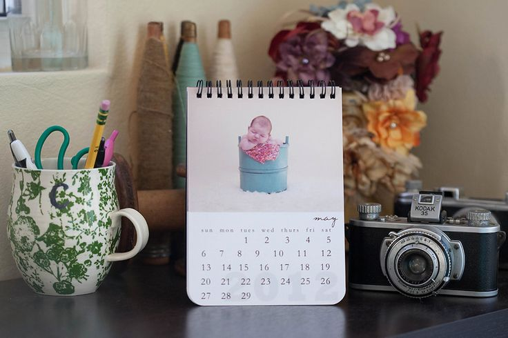 spiral-bound proof books made into calendars