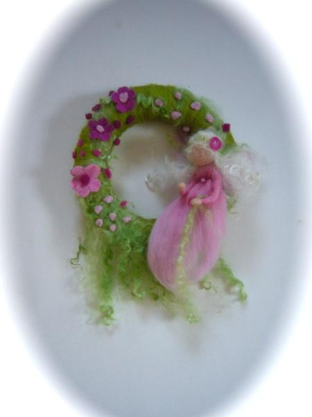 Fairy wreath,Felted.