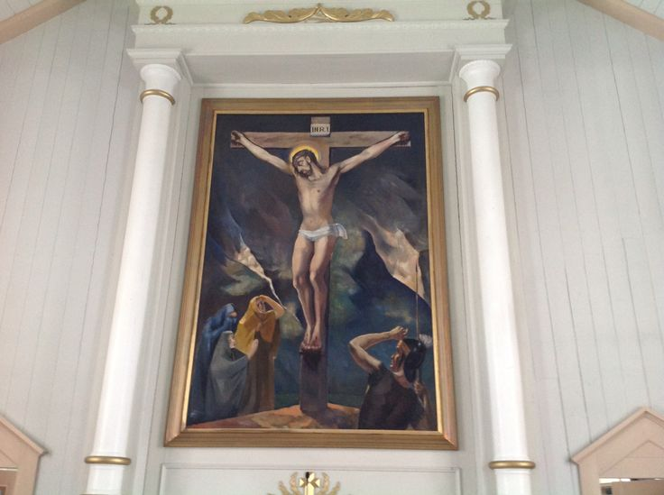 Jesus Christ crucified, Soini Lutheran Church, Finland.