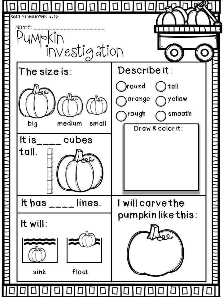 Download free printables at preview. Pumpkin investigation. Fall Math and…