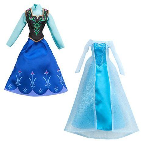 vestido de elsa y ana de frozen