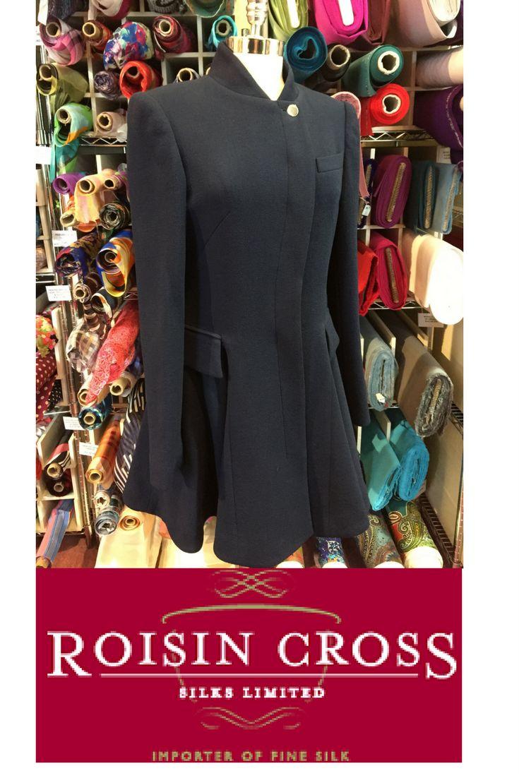 Italian Double Weight Wool Crepe Coat