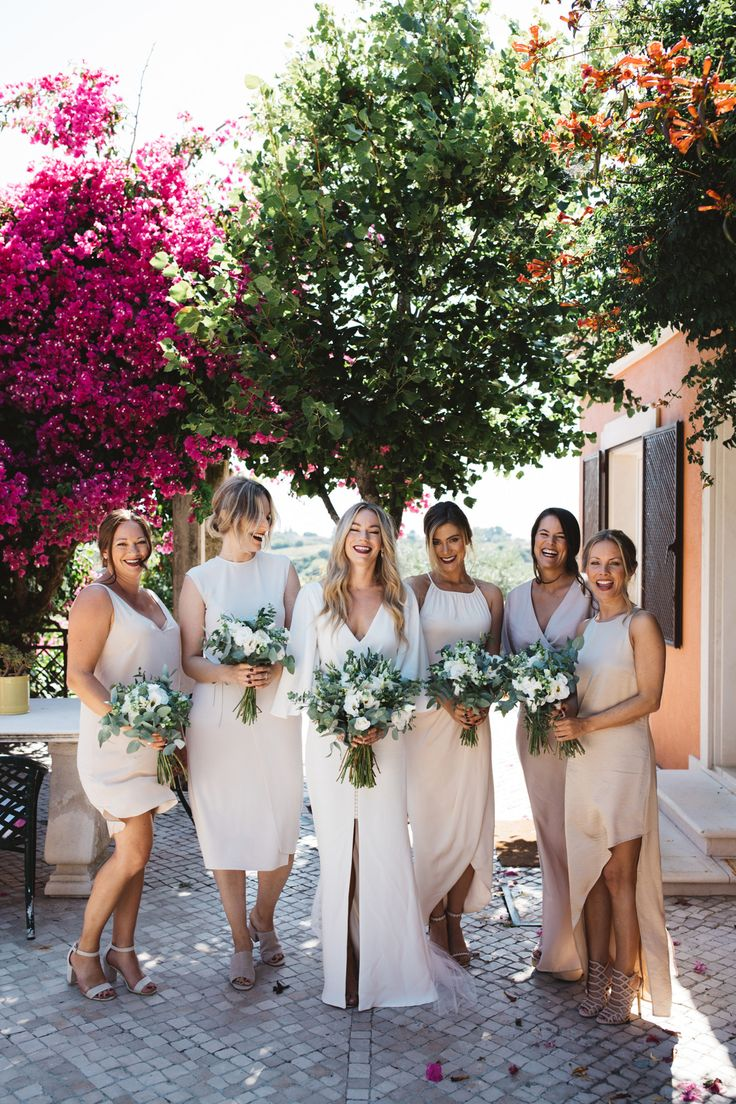 313 best bridesmaids images on pinterest bridal photography bridesmaid dresses in mixed neutrals ombrellifo Gallery