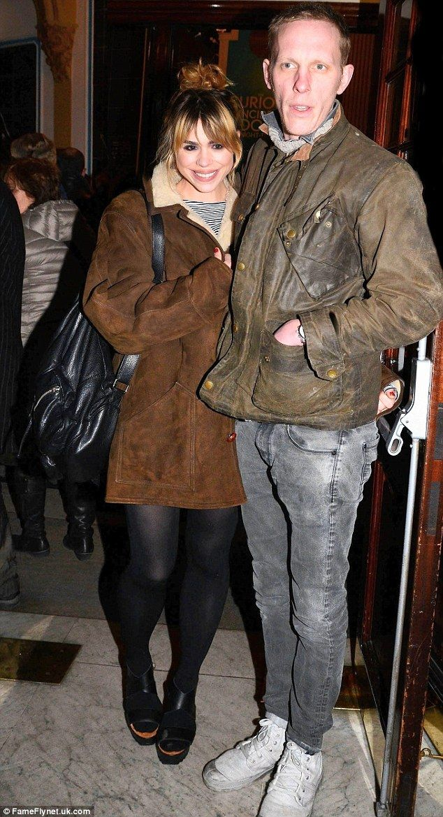 Dressed down chic: Billie Piper and husband Laurence Fox both go for casual cool as they attend The Curious Incident of the Dog in the Night-Time press night at the Apollo.  Laurence Fox seems a natural for the next Doctor!