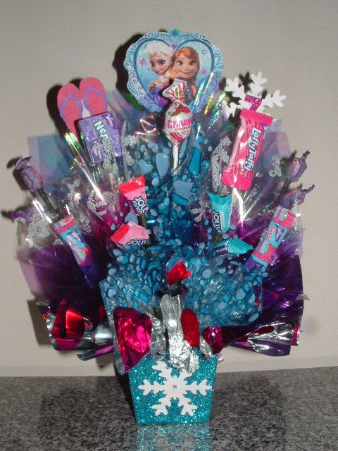 Frozen centerpiece with candy pixshark images