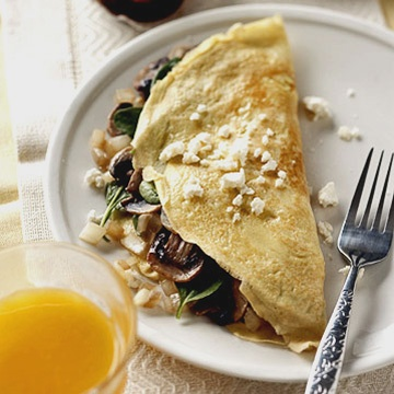 Spinach and Feta Omelet Spinach, feta, and mushrooms create a sure-to ...