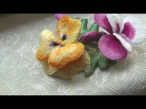Объемная Вышивка Гладью Мастер Класс - YouTube