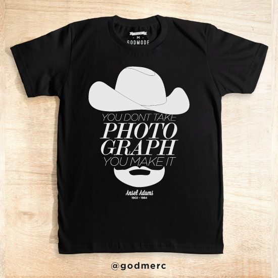 Ansel Popular Photographer Qoute Black dari tees.co.id oleh Godmode Store