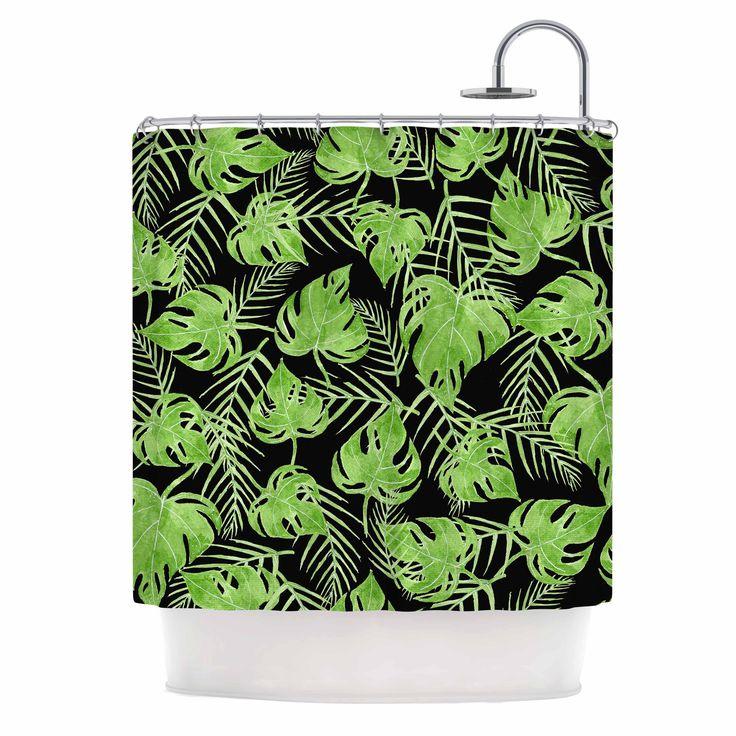 black dark green shower curtain. Black Dark Green Shower Curtain  Strawberringo