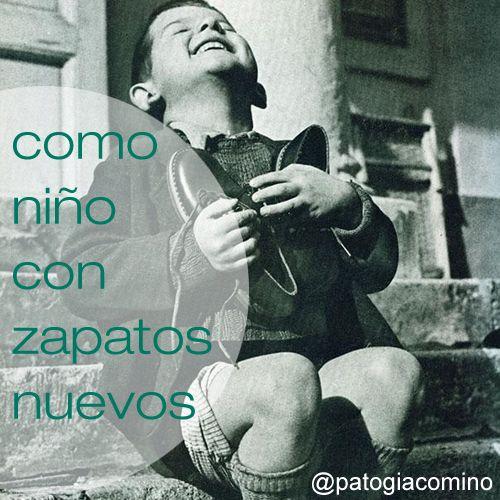 """#IDEAGENES 93 - """"COMO NIÑO CON ZAPATOS NUEVOS"""" #cita #quote #Concepto Imaginaxión #ComunicacionVisual ( IDEAS EN IMÁGENES ) BY @PATOGIACOMINO"""