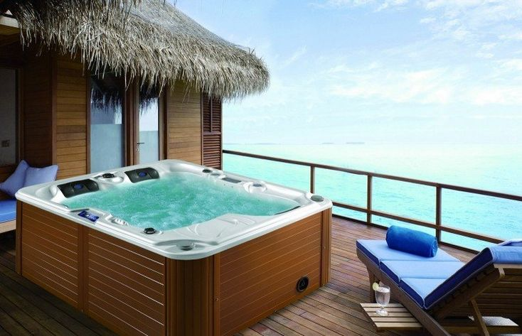 115 best Jacuzzis  Hot Tubes images on Pinterest Pools, Hot tubs - Revetement Exterieur Imitation Bois