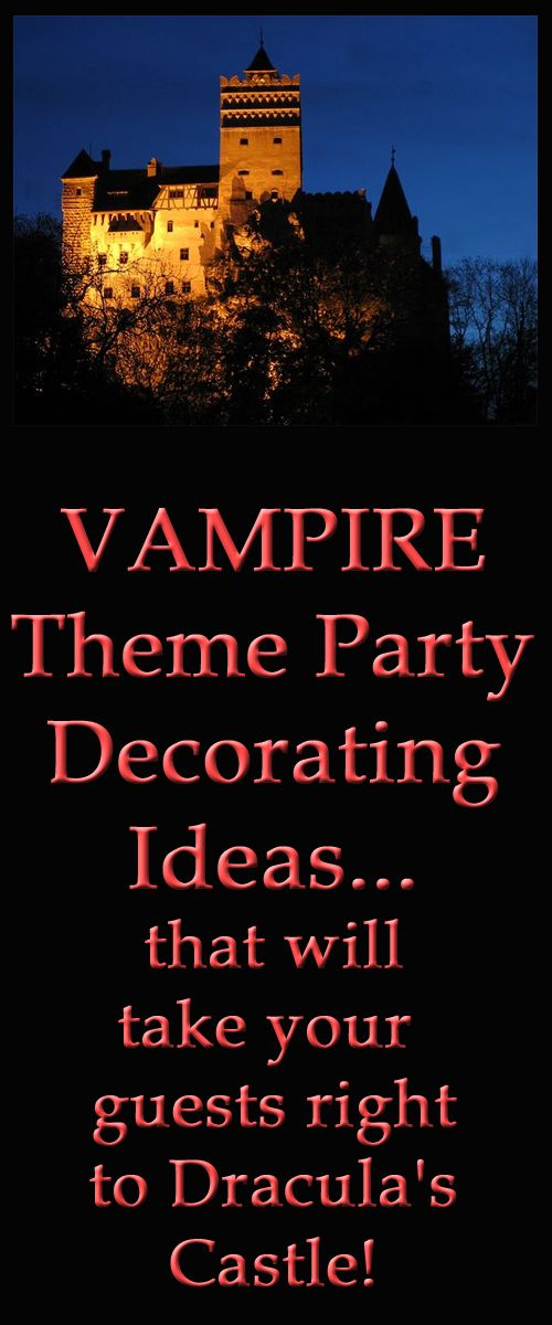 vampire theme party decorating ideas take them to draculas castle - Decorating For A Halloween Party
