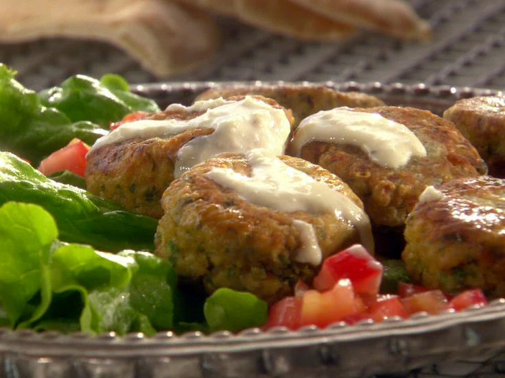 Falafel - try cooking them in a waffle iron instead of frying :)