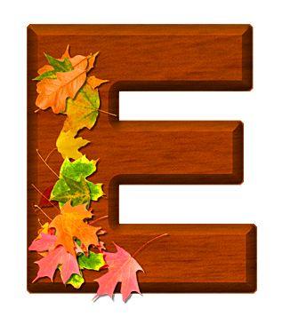 Buchstabe / Letter - E (Herbst / Autumn / Fall)