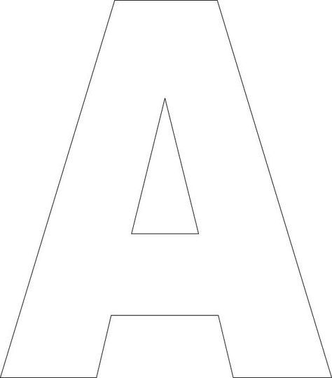 Free Printable Upper Case letter templates (lowercase available here as well)