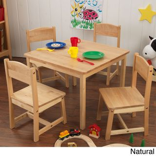 KidKraft Farmhouse 5-piece Table and Chairs Set | Overstock™ Shopping - The Best Prices on Kid Kraft Kids' Furniture