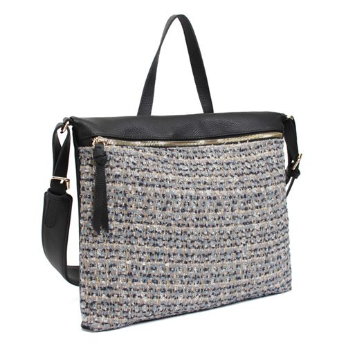 Leather Cross Body Bag for Women Tweed Bag Pattern 4 Color at doozybag.com