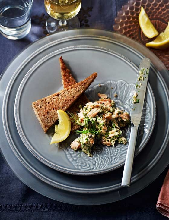 Our hot smoked mackerel pâté is easy to whip up in a hurry and makes an impressive nibble to serve with drinks