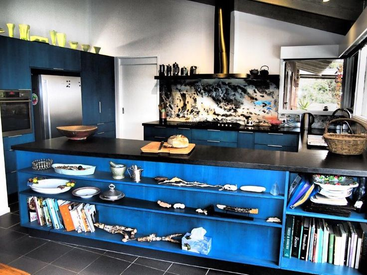 Beautifully hand painted by artistic owner and finished off by Bordeaux. Design by Bordeaux Kitchens.