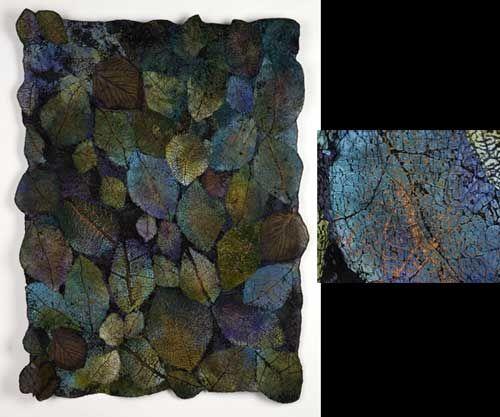 "LEAF-CLOTH 2""  Lesley Richmond  Silk/Rayon and Charmeuse, Silk Net  42"" x 32""  $4,000  SOLD"