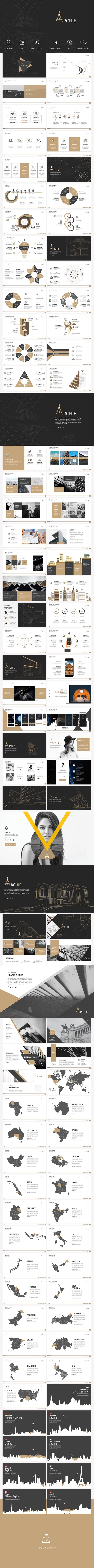 Archie Presentation Template - #Business #PowerPoint #Templates Download here: https://graphicriver.net/item/archie-presentation-template/19442322?ref=alena994