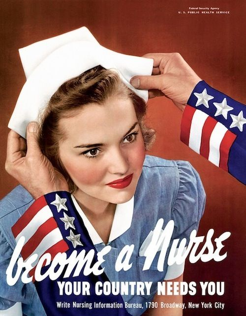 Awesome Vintage Nursing Recruitment Posters