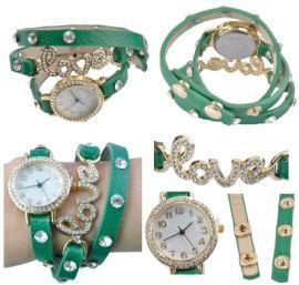 Horloge Love Groen