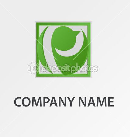 Абстрактный зеленый птица логотип — Стоковая иллюстрация #33540347