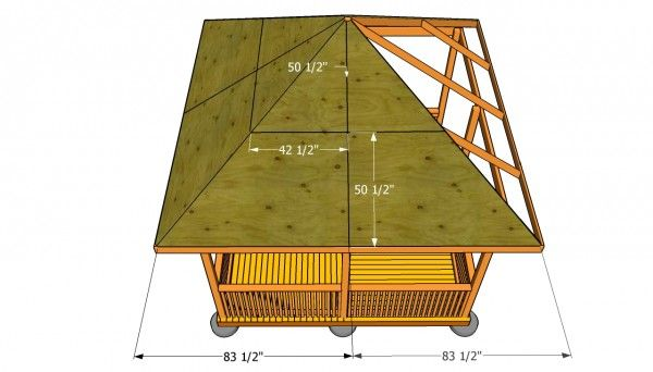 Gazebo Roof Plans | MyOutdoorPlans | Free Woodworking Plans and Projects, DIY Shed, Wooden Playhouse, Pergola, Bbq