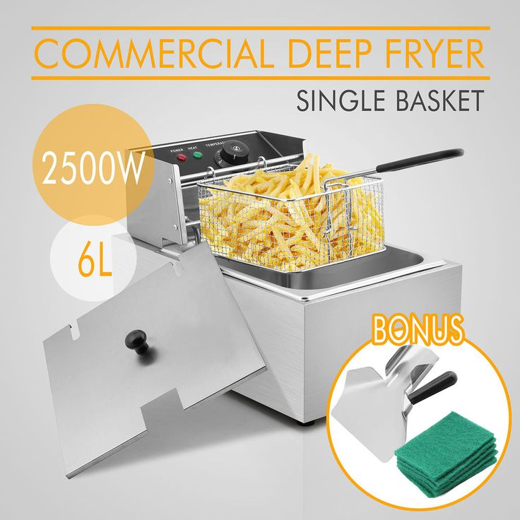 6L COMMERCIAL DEEP FRYER W/ THERMOSTAT ELECTRIC HOME RESTAURANT FRYING POPULAR #VEVOR