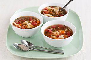 Soupe minestrone éclair