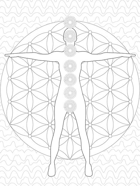 chakra symbols coloring pages - photo#30