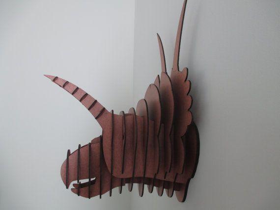 Cabeza de dinosaurio Diabloceratops medio por HeadsOnAWall en Etsy