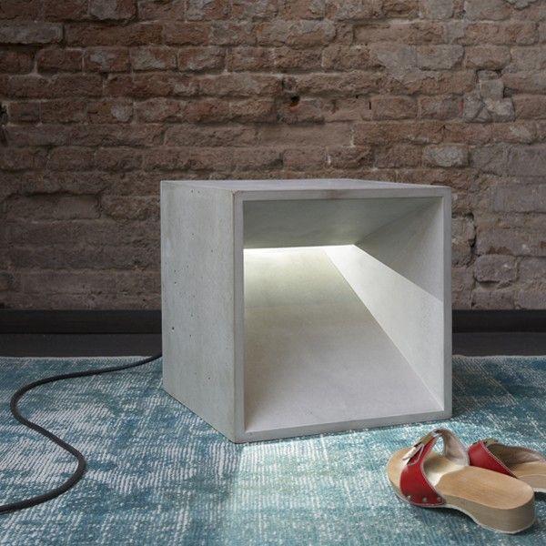 betonWare lichtWürfel (grau)