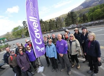 A team of 21 climbers raised over £9,000 for Cavell Nurses' Trust in April 2014