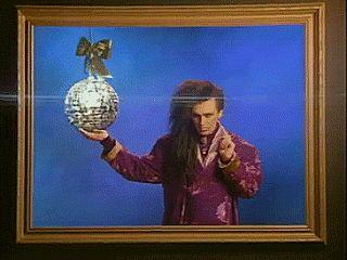 """Il """"balletto"""" di Pete Burns nel video Dead or Alive - You Spin Me Round in 4 GIF animate http://staypulp.blogspot.com/2017/03/il-balletto-di-pete-burns-nel-video.html"""