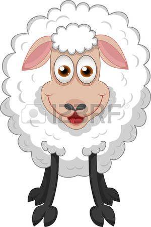 Vector illustratie van grappige schapen