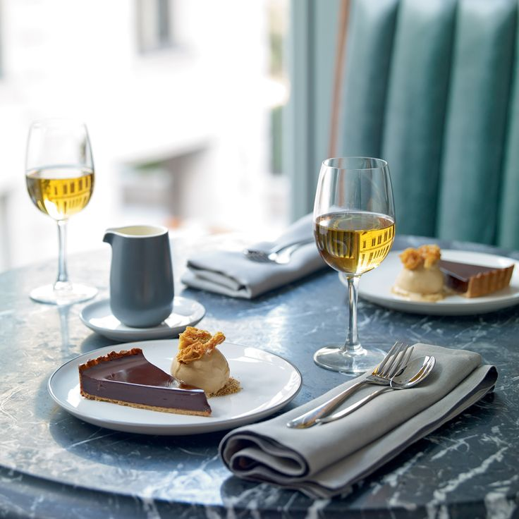 Chocolate tart served on Gordon Ramsay's Bread Street collection by Royal Doulton