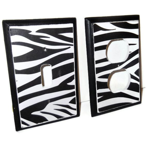 Zebra Room Decor Outlet Cover.