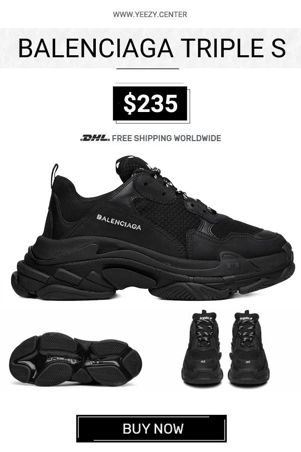 4b4ad4c1e5f4d For sale the best Balenciaga Triple S Trainers Black fake  balenciaga   sneakers  TripleS