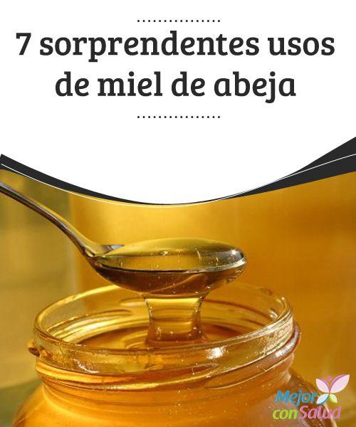 7 sorprendentes usos de miel de abeja  La miel de abeja es un alimento medicinal que nos ofrece la naturaleza para múltiples usos: para tratar heridas, facilitar la cicatrización, hidratar la piel, lavar el cabello, preparar jarabes, regular el intestino, etc.