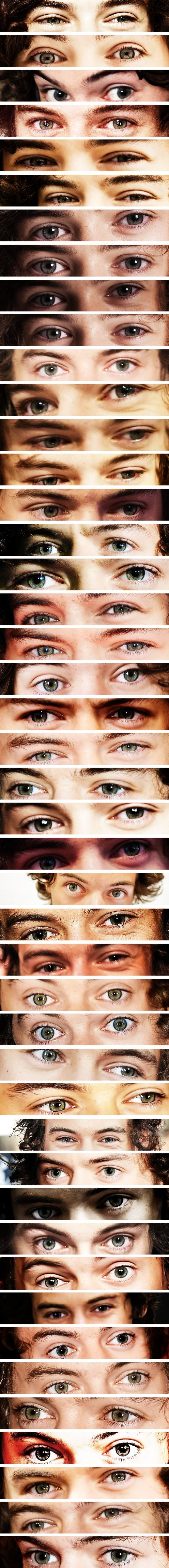 WHO MADE THIS MASTER POST OF HARRY STYLES'S EYES. THEY MUST DIE