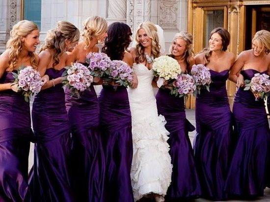 dark purple bridesmaid dresses   purple wedding ideas  purple bridesmaid dress