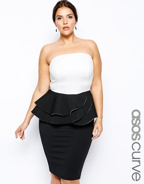 A modern day twist on the usual peplum dress. Love the frill detail on this gorgeous number :  http://asos.to/1mx55yj