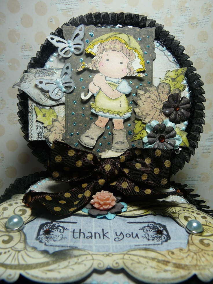Thank you card with nature garden by Prima