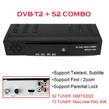 US $30.68 DVB-T2 + S2 Combo 2 in 1 Digital Satellite Receiver Combo dvb t2 + S2 HD 1080P dvb-t2 tv Box H.264 / MPEG-2/4 for Russia Europe. Aliexpress product