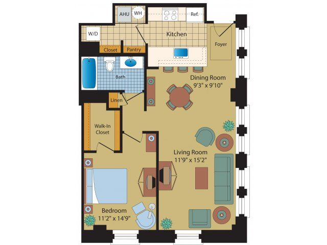 3 Bedroom Apartments In Baltimore Part - 20: One Bedroom Apartments In Baltimore. Apartments In The Historic Munsey  Building Near Downtown Baltimore.