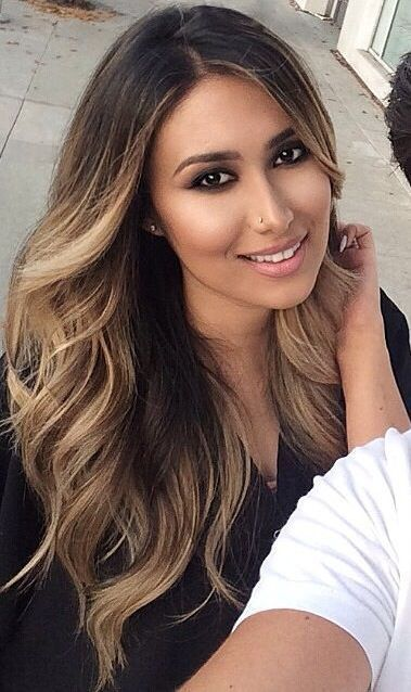 light balayage on black hair gives a texture and dimension #blackhaircareproducts,