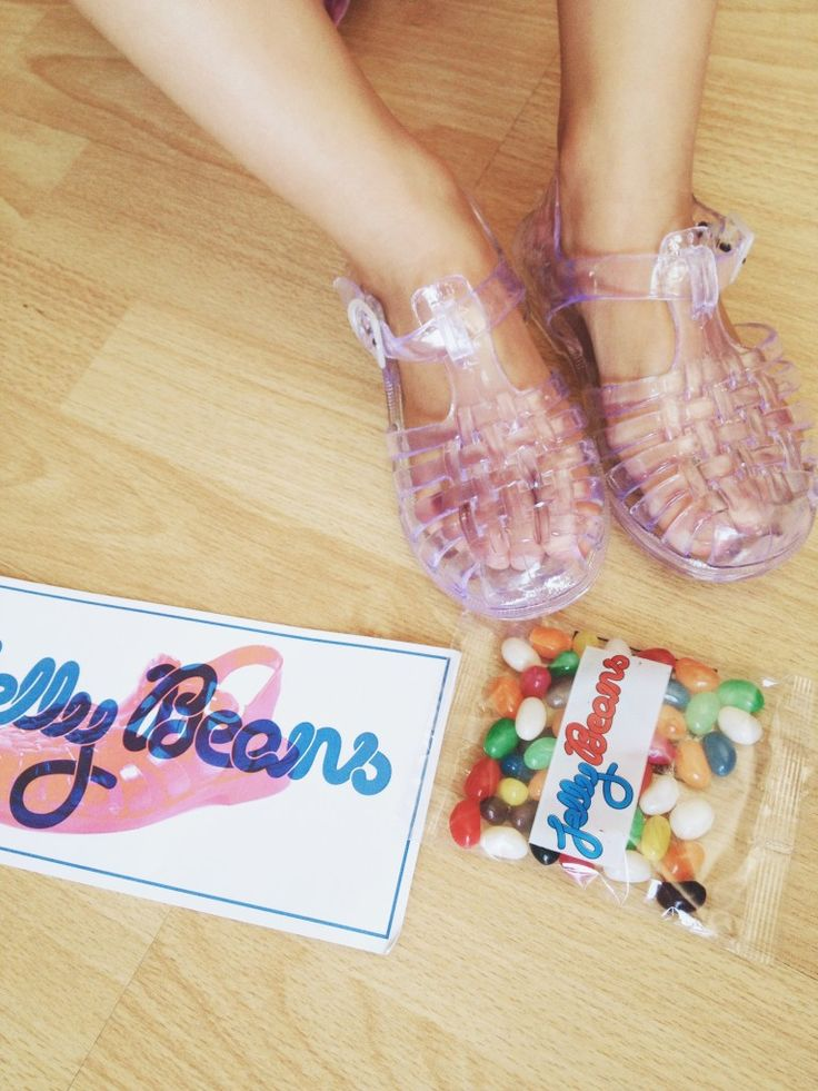 Just Between Friends: Jelly Beans Shoes.  Officially the cutest shoes and packaging ever. Every girl should own a pair of these!