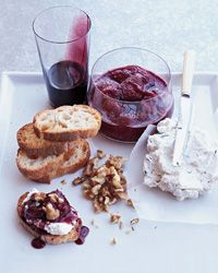 Goat cheese mousse with red wine caramel